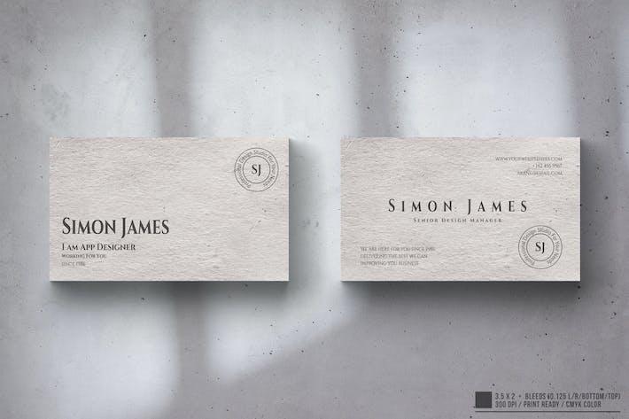 Thumbnail for Minimal Elegant Business Card Design