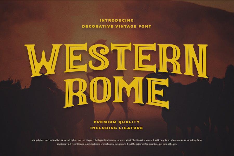 Roma Occidental - Fuente Occidental Vintage