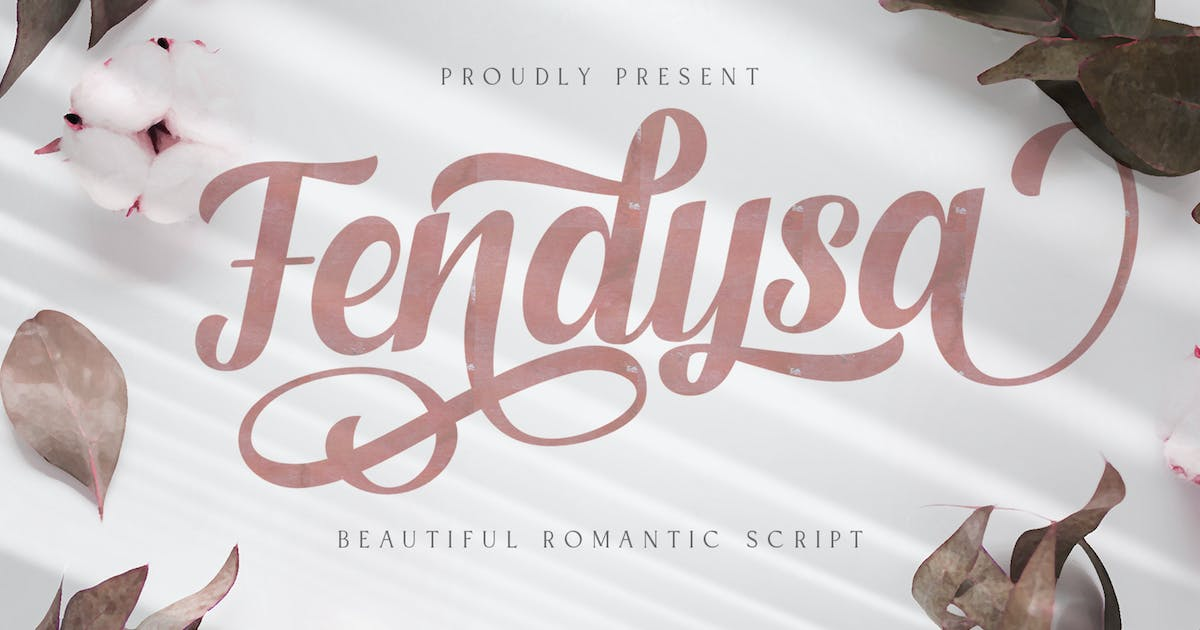 Download Fendysa - Calligraphy Font by StringLabs