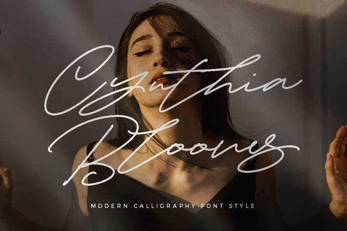 Thumbnail for Cynthia Blooms - Monoline Signature logotype