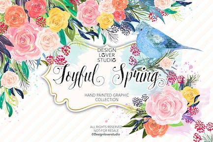 Acrylic JOYFUL SPRING design
