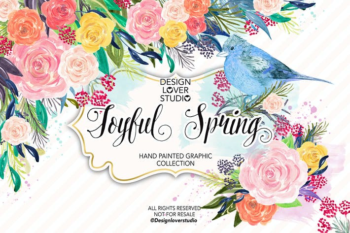 Thumbnail for Acrylic JOYFUL SPRING design