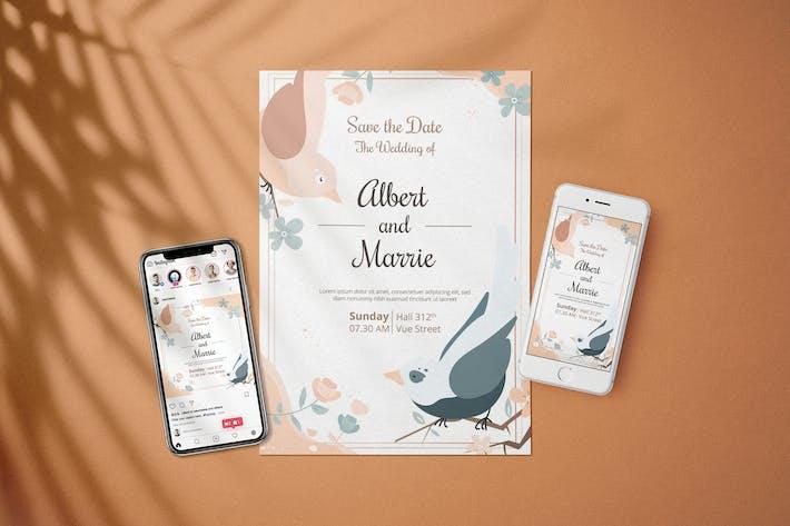 Thumbnail for Wedding Invitation - Flyer Media Kit