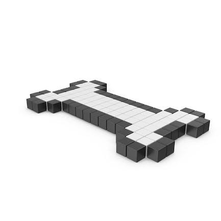 Icono de hueso pixelado