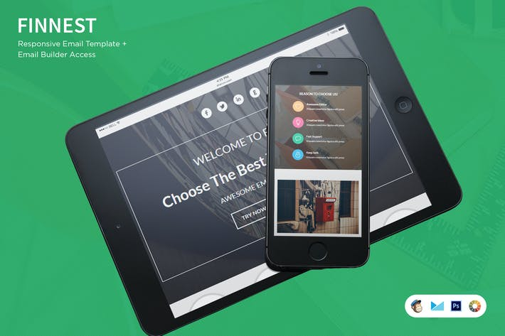 Thumbnail for Finnest HTML Email Template