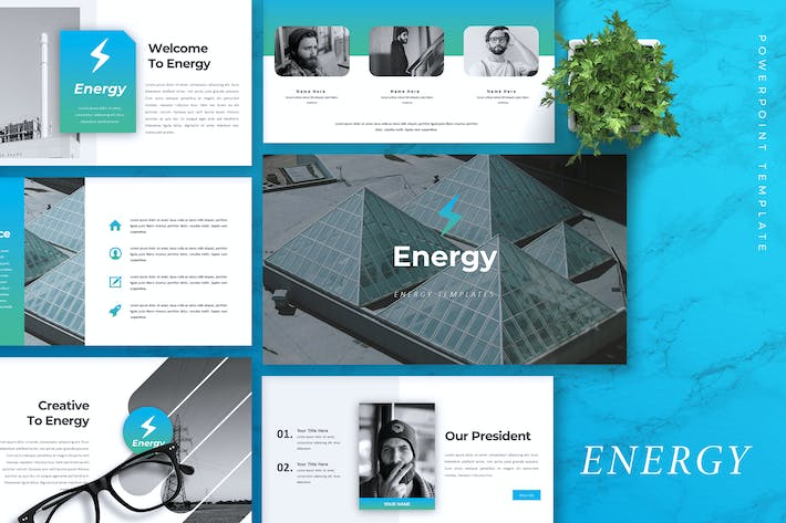 ENERGY - Company Profile Powerpoint Template