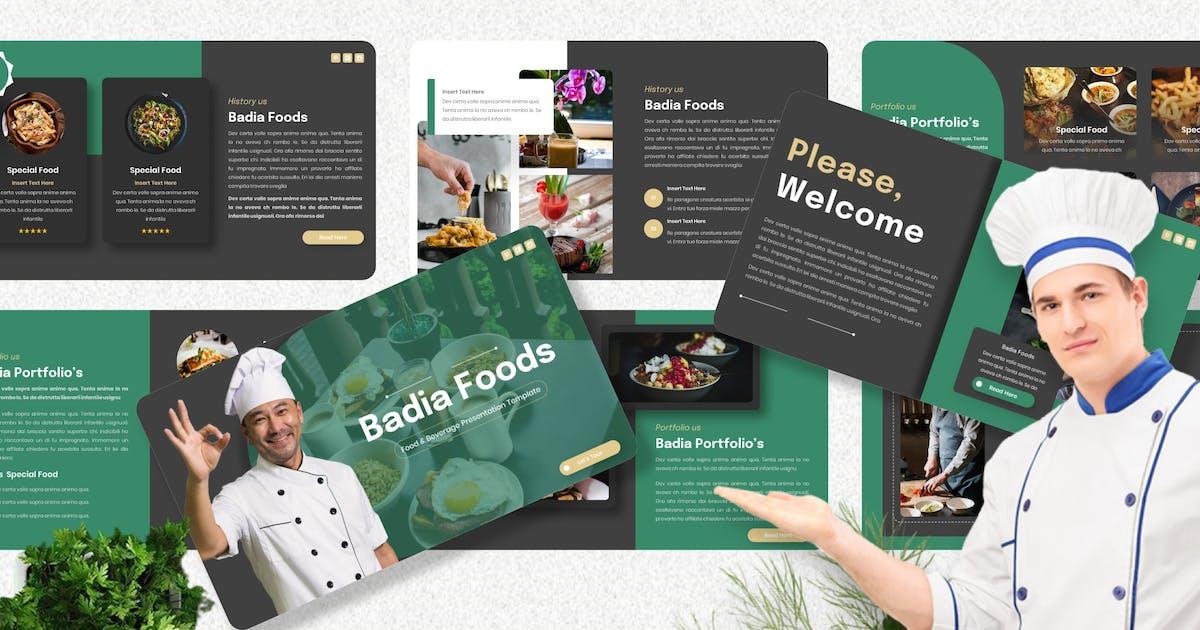 Download Badia - Food & Beverage Keynote Template by Yumnacreative