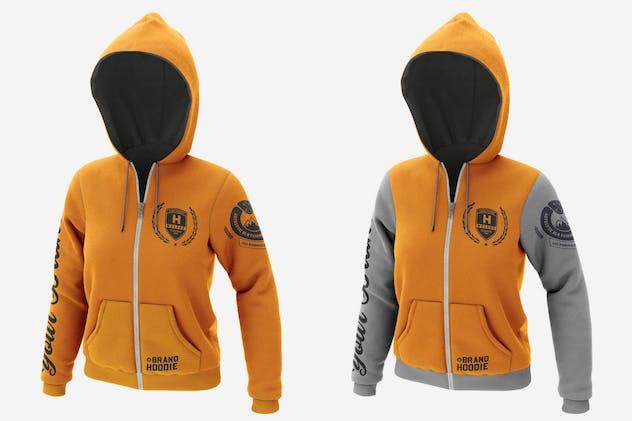 Jacket Sweatshirt Hoodie Mockup