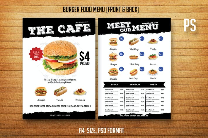 Thumbnail for Burger Food Menu Menu