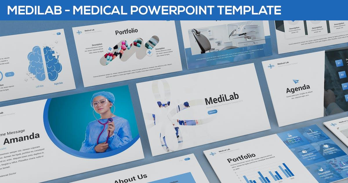 Download MediLab - Medical Powerpoint Template by SlideFactory