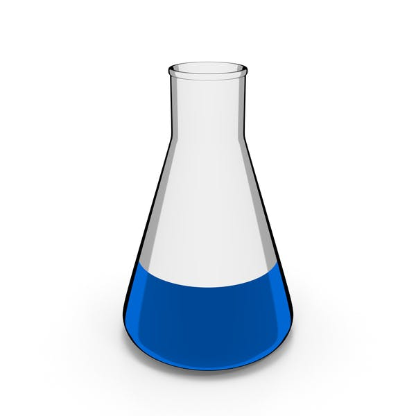 Chemistry Flask Cartoon