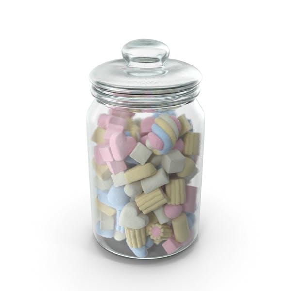Jar with Mixed Marshmallows