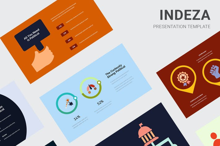Thumbnail for Indeza - Political Infographic Keynote