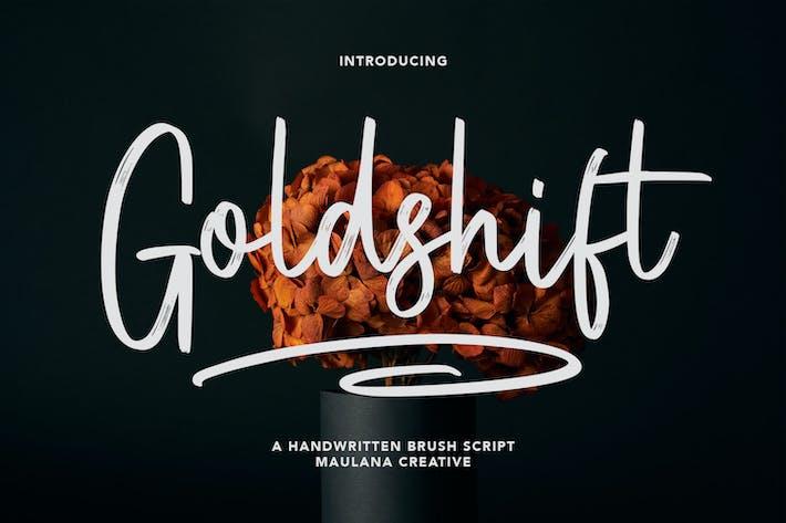 Goldshift Handwritten Brush Script