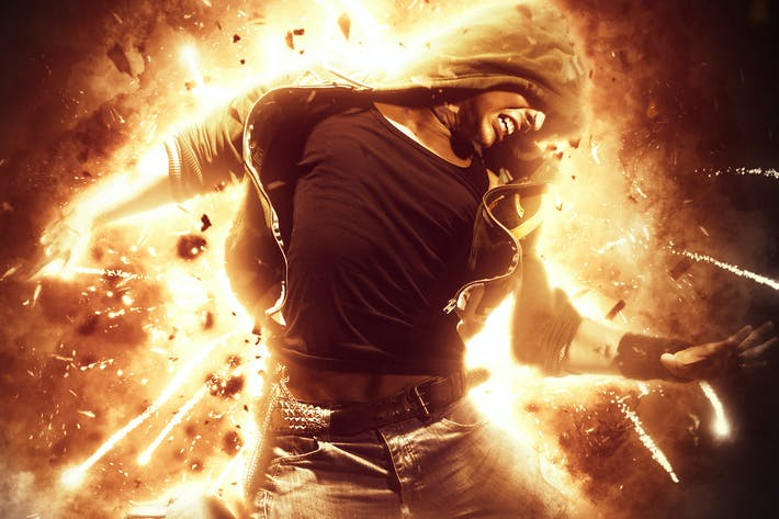 Thumbnail for Explosion Photoshop Action