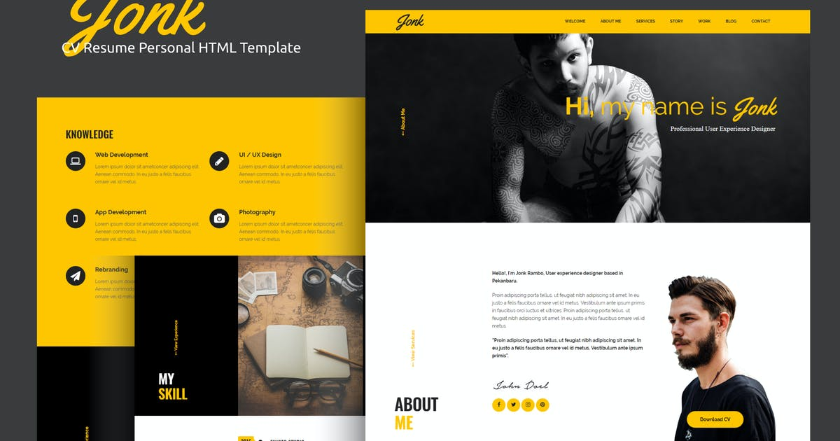 Download Jonk - CV Resume Personal HTML Template by rudhisasmito