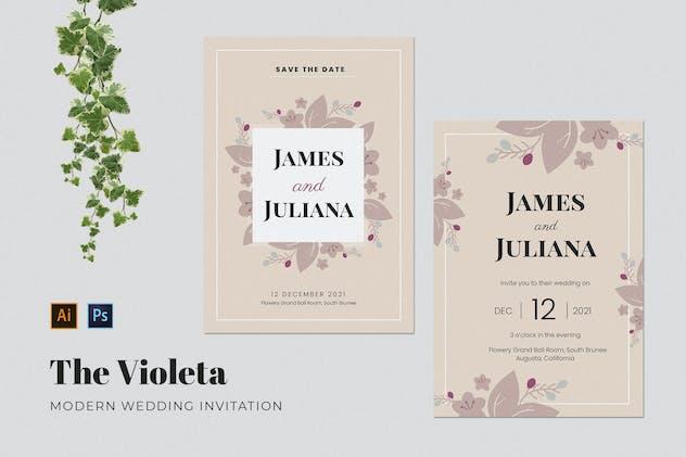 Violeta Wedding Invitation