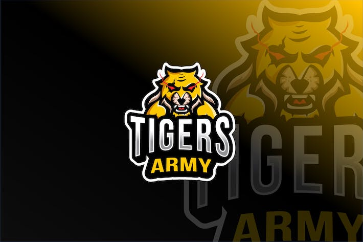 Thumbnail for Tigers Army Esport Logo Template