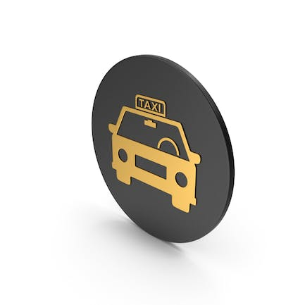 Taxi Gold Icon