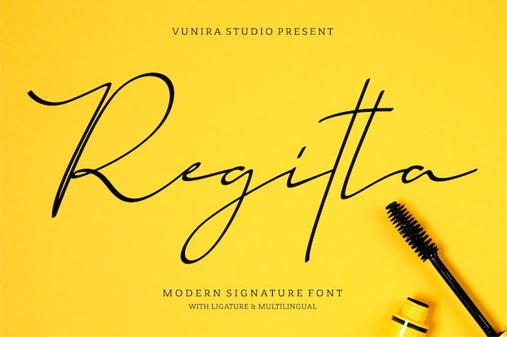 Thumbnail for Regitta   Fuente de firma moderna