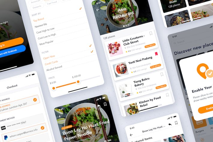 Thumbnail for Foody - Ordering Restaurant Mobile UI Kit