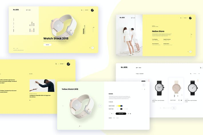 Thumbnail for Ne22 - Watch store one page template