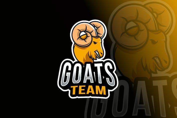 Thumbnail for Goats Team Logo Template