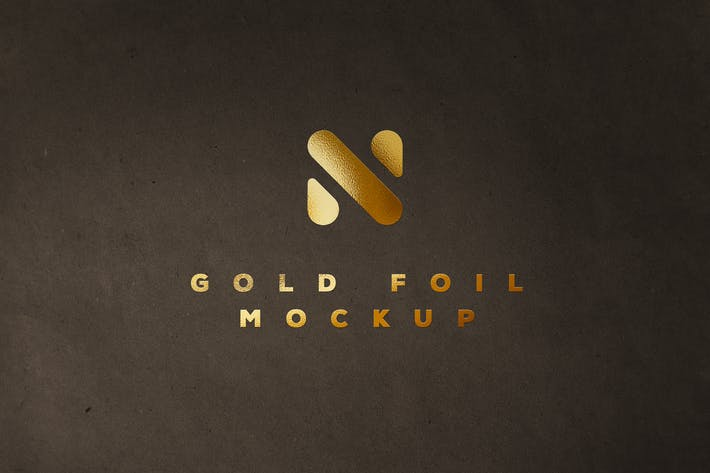 Luxury Gold Foil Logo Mockup