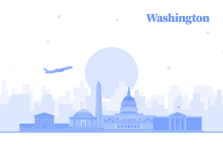 Thumbnail for Vector City Illustration - Washington skyline