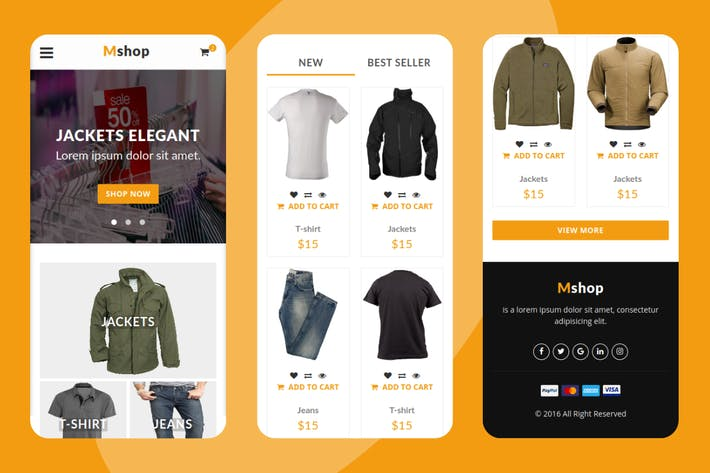 Thumbnail for Mshop - eCommerce Mobile Template