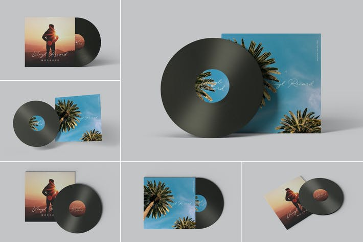 Thumbnail for Vinyl Record Mockups