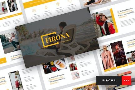 Firona - Influencer PowerPoint Template