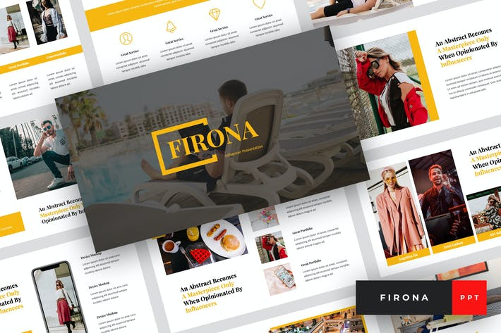 Thumbnail for Firona - Influencer PowerPoint Template