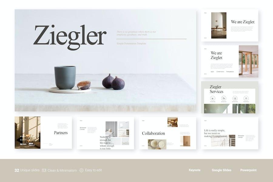 Ziegler - Saubere Präsentationsvorlage