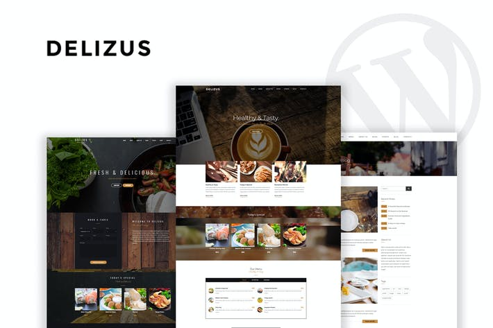 Cover Image For Delizus | Restaurant Cafe WordPress Theme