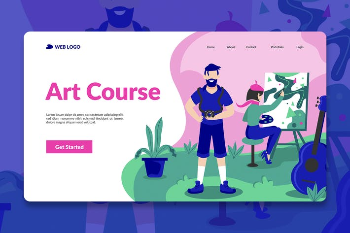 Thumbnail for Course Landing Page Hero Illustration