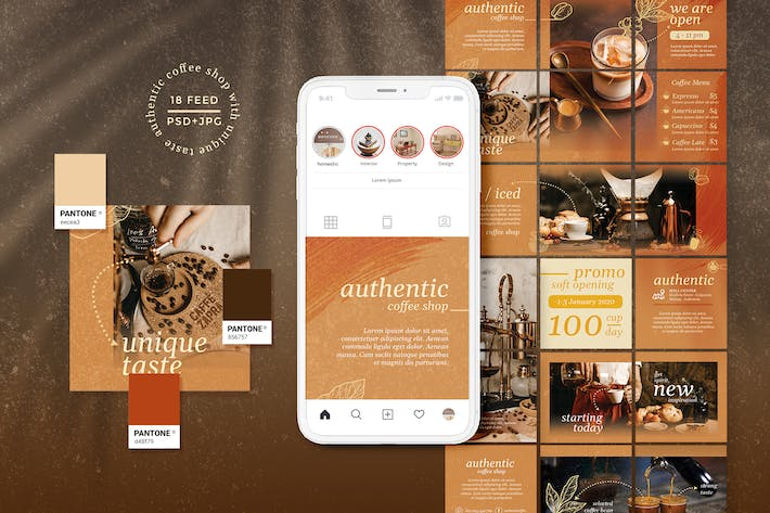 Thumbnail for Autenthic Coffee Cafe - Instagram Puzzle