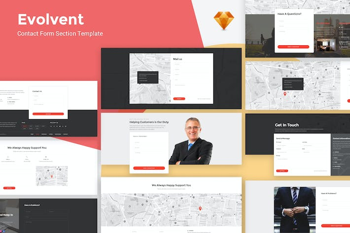 Thumbnail for Evolvent - Contact Form Ui Kit Template