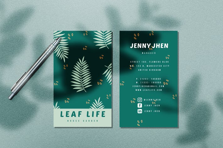 Thumbnail for Leaf Life Business Card