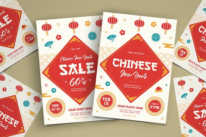 Thumbnail for Chinese New Year Celebrate & Sale Flyer Template