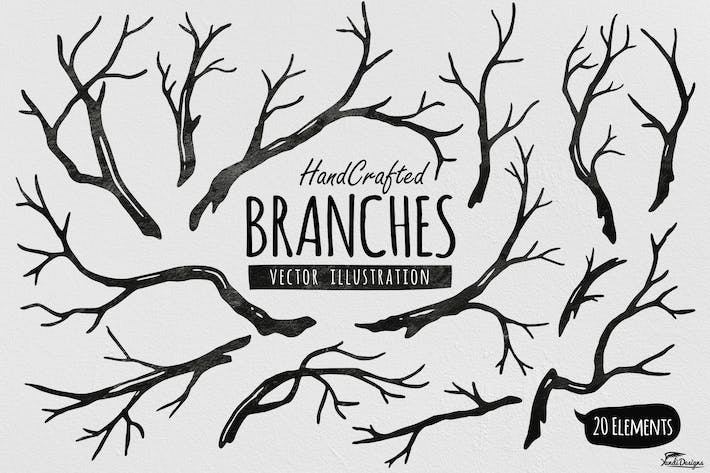 Thumbnail for Hand Crafted Tree Branches Vector