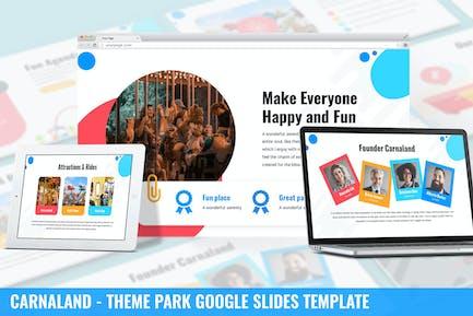 Карналанд - Тема парк Google Слайды Шаблон