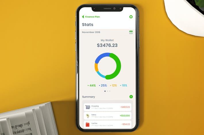 Thumbnail for Mobile Bank Stats Ui - T