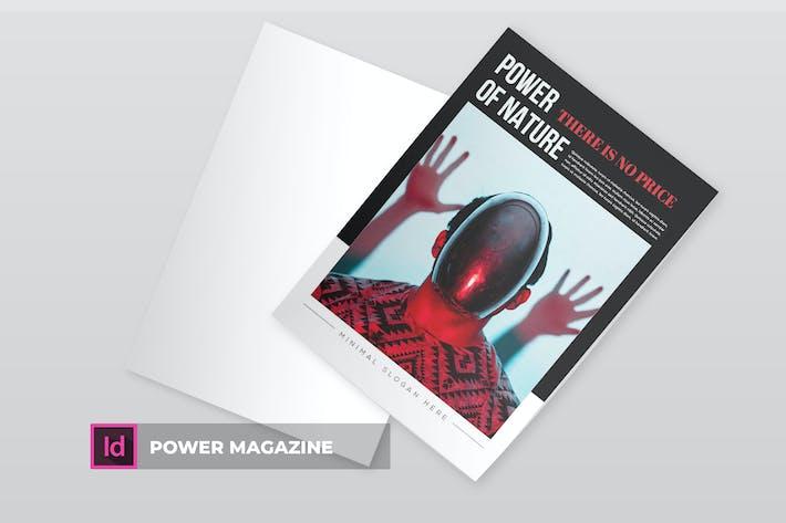 Thumbnail for Power | Magazine Template