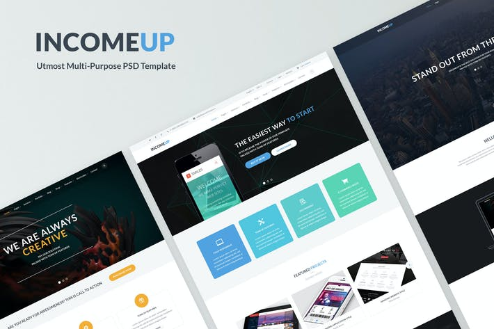 Thumbnail for IncomeUp - MultiPurpose Business PSD