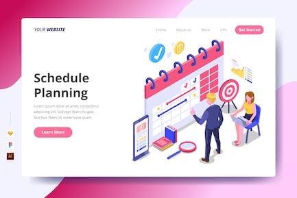 Schedule Planning - Landing Page
