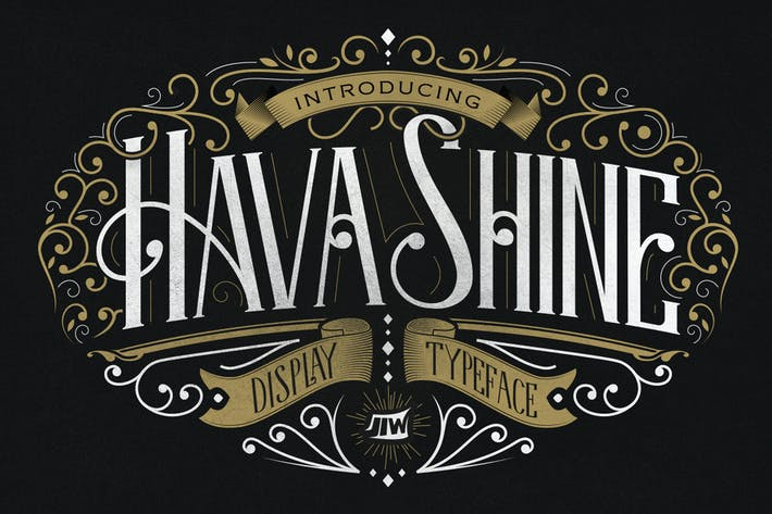 Cover Image For Hava Shine Typeface
