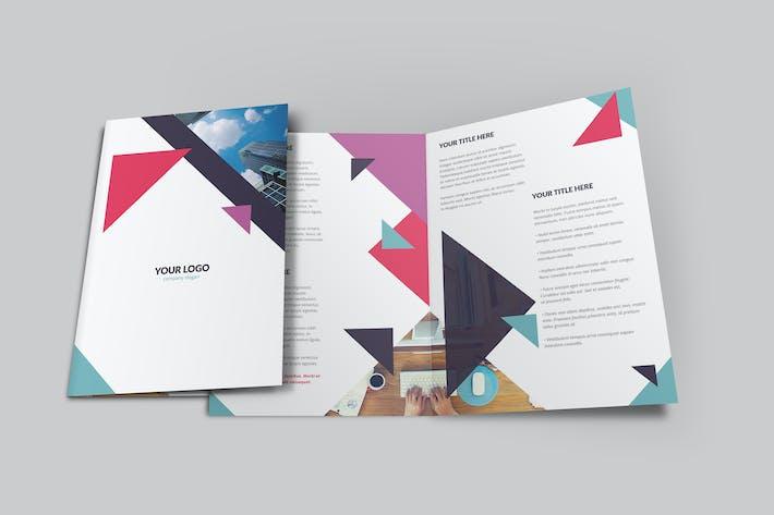 Thumbnail for Geometric Brochure Bi-Fold