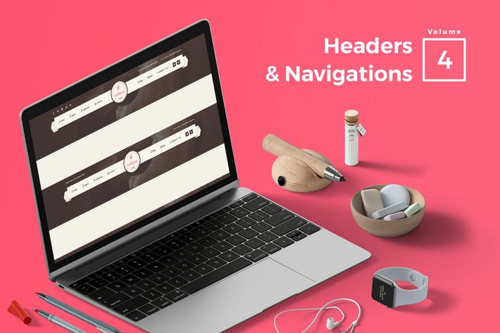 Thumbnail for Headers & Navigation for Web Vol 04
