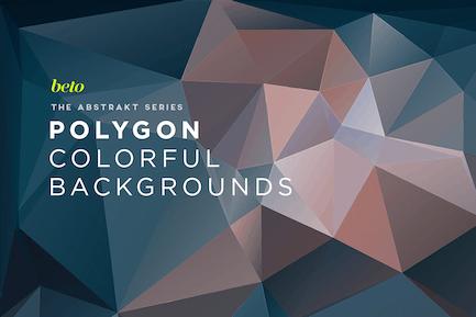 Abstrakte Polygon-Hintergründe V8